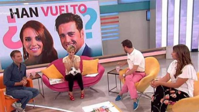 Un momento del programa La Mañana, de TVE, emitido en La 1 mientras Rajoy comparecía en la Audiencia Nacional.