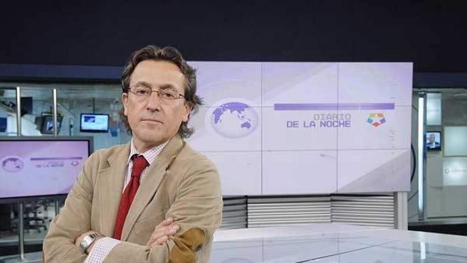 Hermann Tertsch, en el plató del programa 'Diario de la Noche'.