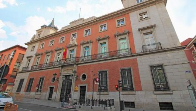 Imagen de la sede del Ministerio de Justicia.