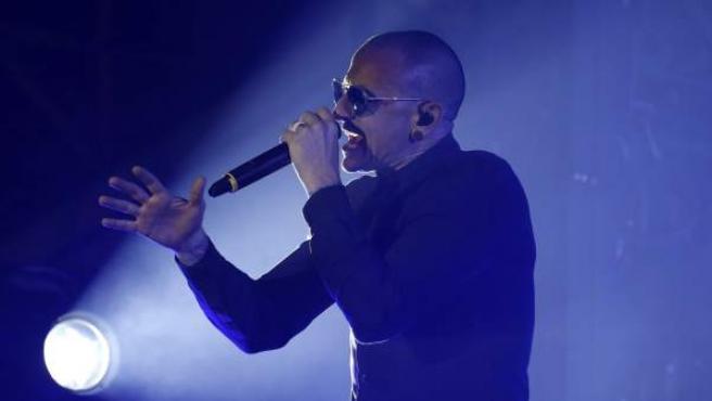 El cantante de la banda estadounidense Linkin Park Chester Bennington.