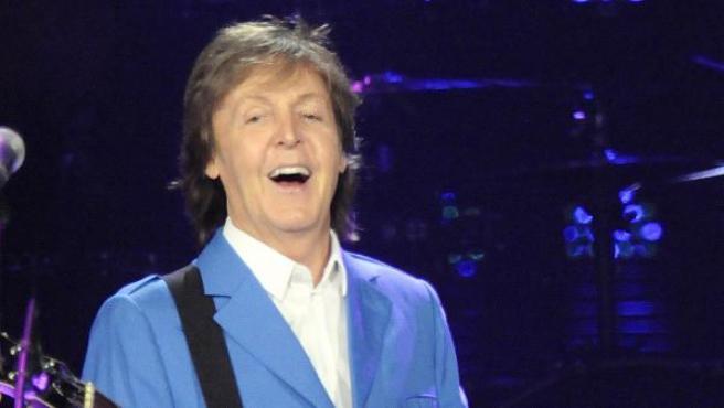 Sir Paul McCartney en un concierto en Albany (Nueva York) el 5 de julio de 2014.
