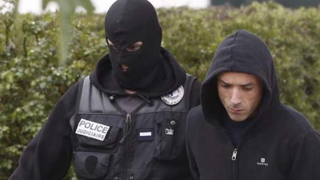 Mikel Irastorza, tras su detención en la localidad francesa de Ascain.