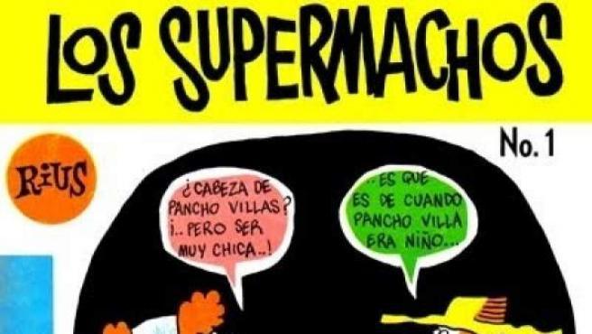 Portada de un número de 'Los Supermachos', de Rius.