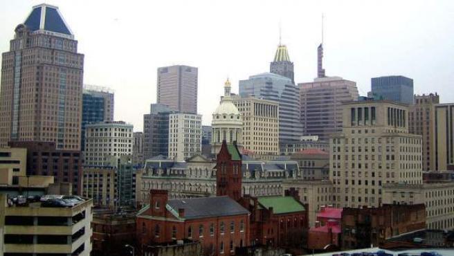 Vista general de la ciudad de Baltimore, en Estados Unidos.