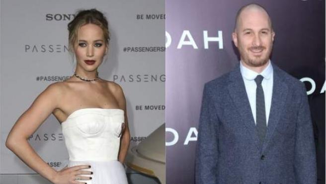 La actriz Jennifer Lawrence y el director Darren Aronofsky.