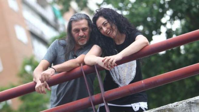 Dioni Martín y Ángeles Muñoz, componentes de Camela.