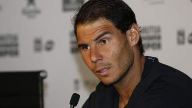 Rafa Nadal en el Mutua Madrid Open.