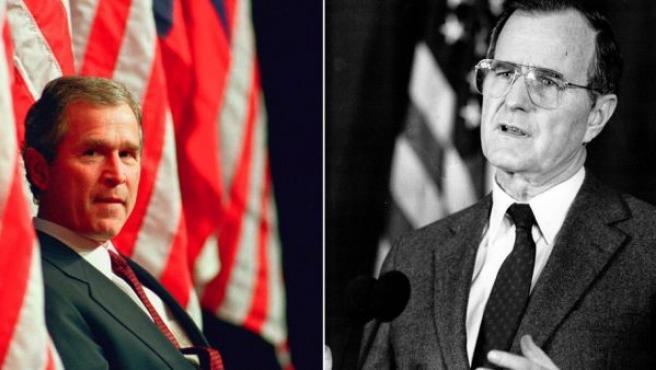 George H Bush y George W Bush, en una imagen de archivo.