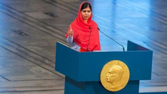 La ganadora del Premio Nobel de la Paz y Mensajera de la Paz de la ONU.