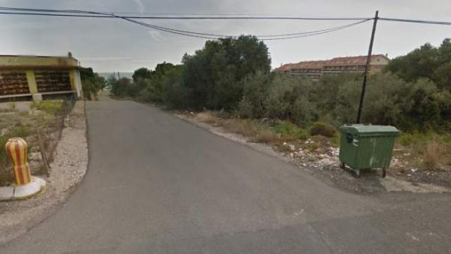 Zona de Alcanar cercana a la urbanización Montecarlo.