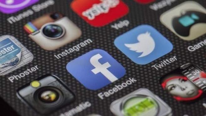 El logo de algunas de las redes sociales más populares.