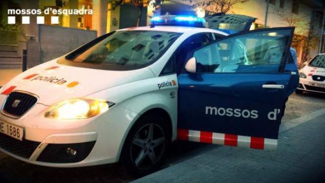 Vehículo de los Mossos d'Esquadra.