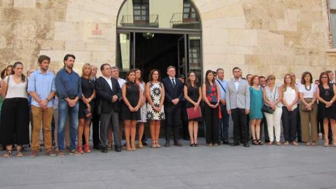 Concentración en el Palau de la Generalitat.