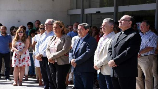 José Entrena, en el minuto de silencio por el atentado de Barcelona