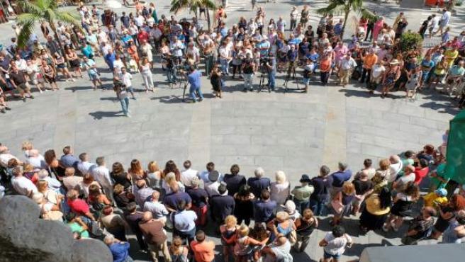 El minuto de silencio contra el atentado de Barcelona
