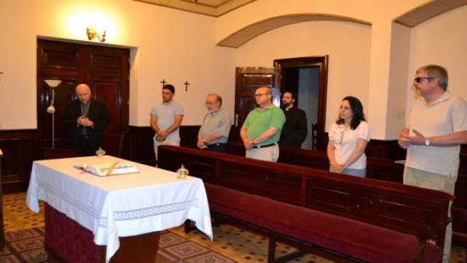 Minuto de silencio en el Obispado por los atentados en Cataluña.