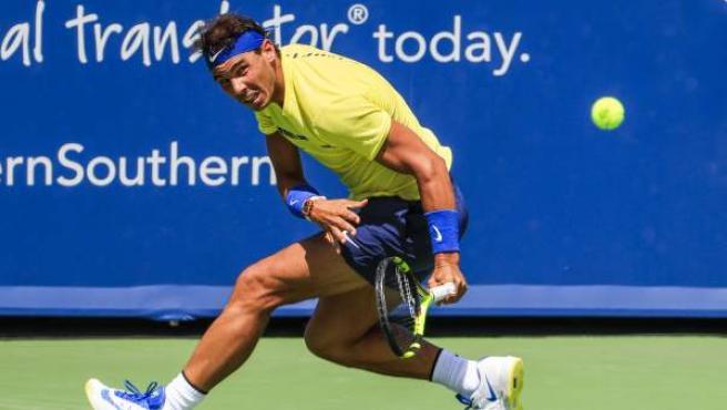 Rafa Nadal, en su partido contra Albert Ramos.