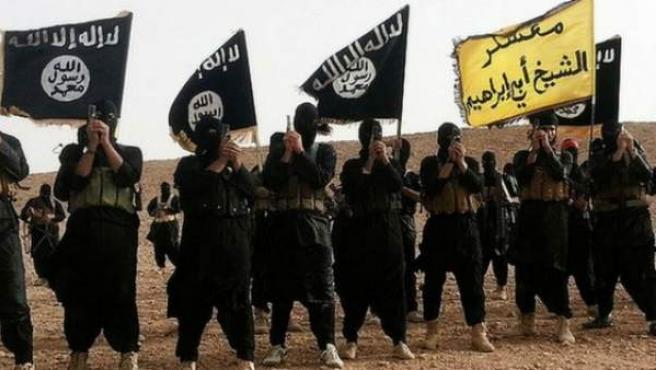 Terroristas de Estado Islámico, en una imagen tomada en Irak.