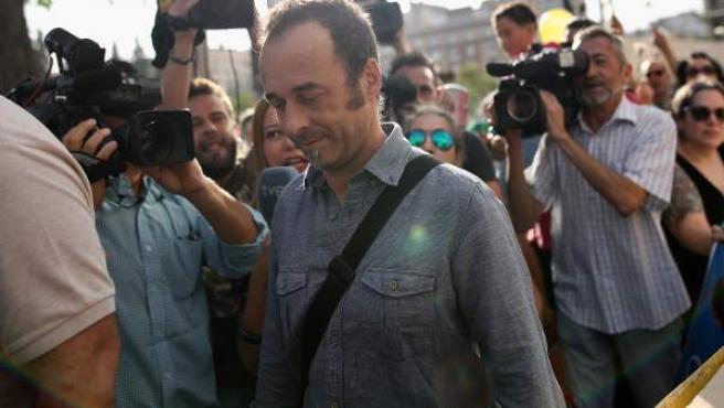 Francesco Arcuri, excompañero de Juana Rivas, llega a los juzgados de Granada, en una imagen de archivo.
