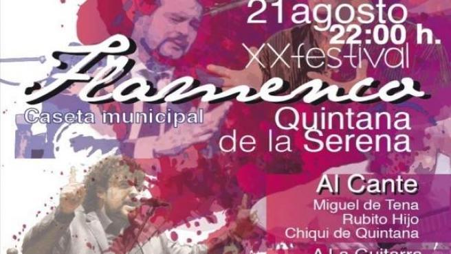 Nota Informativa. Quintana De La Serena Celebra Hoy Su Xx Festival Flamenco