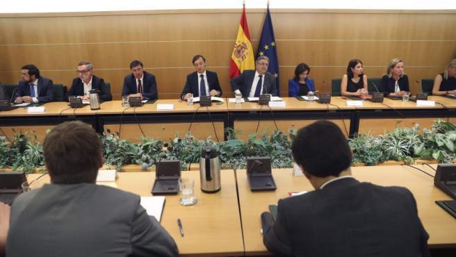 El ministro del interior, Juan Ignacio Zoido, preside la comisión de seguimiento del Pacto Antiyihadismo.