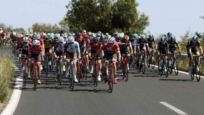 Una imagen de una etapa de la Vuelta.