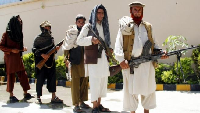 Antiguos militantes talibanes en una imagen de archivo.