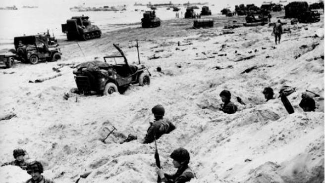 Comienzo de la invasión de Normandía, en una imagen de archivo.