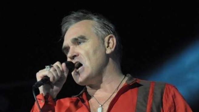Morrissey durante un concierto en Madrid.