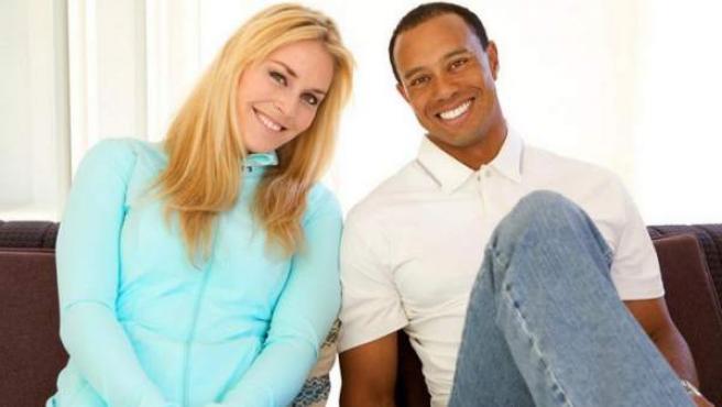Tiger Woods y Lindsey Vonn, en una imagen de archivo.