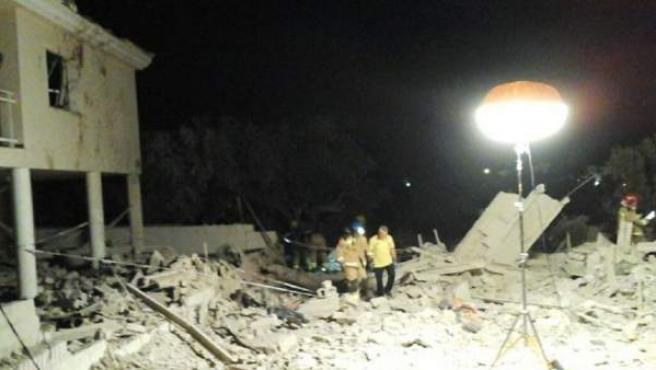 Explosión en una casa en Alcanar (Tarragona).