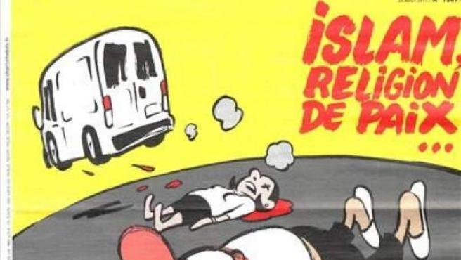Portada de la revista satírica francesa 'Charlie Hebdo' dedicada a los atentados en Barcelona.