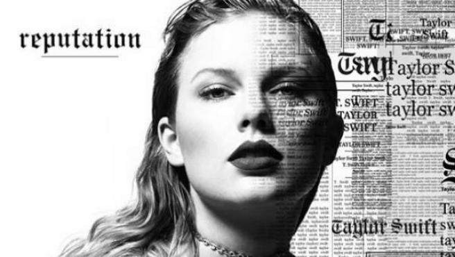 La imagen es lo que parece ser la portada de su próximo álbum, 'Reputation'.