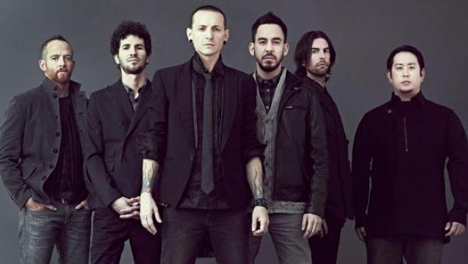 Los componentes de la banda Linkin Park, con el malogrado Chester Bennington al frente.