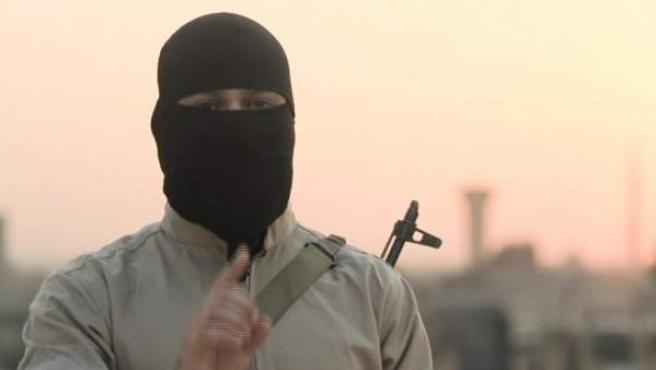 Imagen del vídeo en el que EI amenaza a España.
