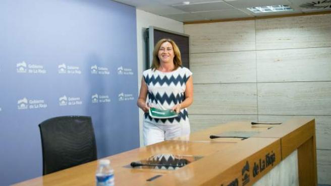 Begoña Martínez portavoz del Gobierno riojano