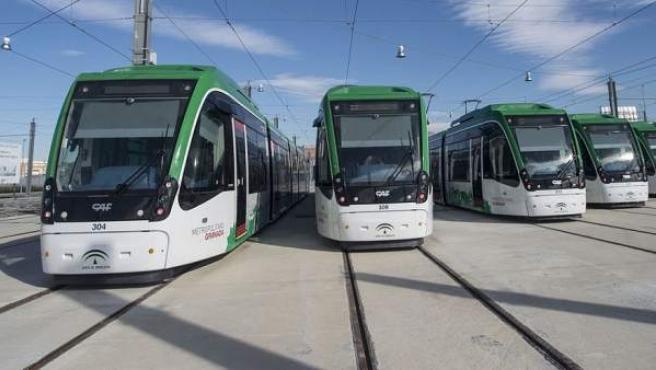 Vagones del metro de Granada.