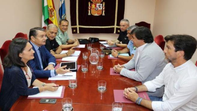Reunión sobre materia de seguridad en Huelva.