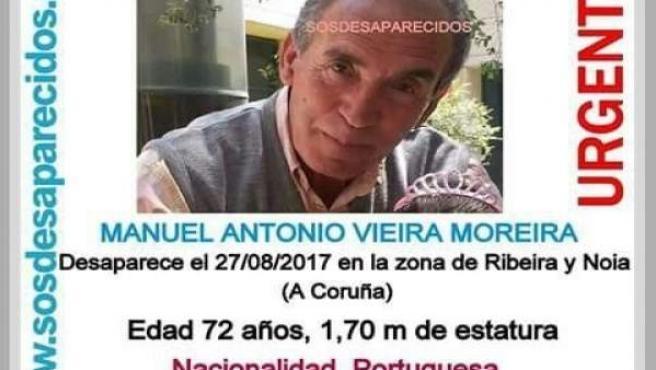 Desaparecido un septuagenario en la zona de Ribeira y Noia.