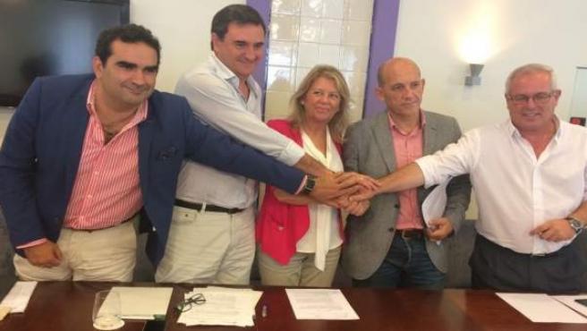 Firma acuerdo de gobierno PP-OSP
