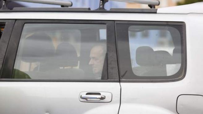 Francesco Arcuri llega a la Comandancia de la Guardia Civil