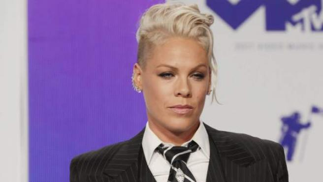 La cantante Pink, en la gala de los MTV Video Music Awards.