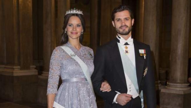Los príncipes de Suecia, Carlos Felipe y Sofía.