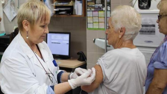Vacunación de la gripe.