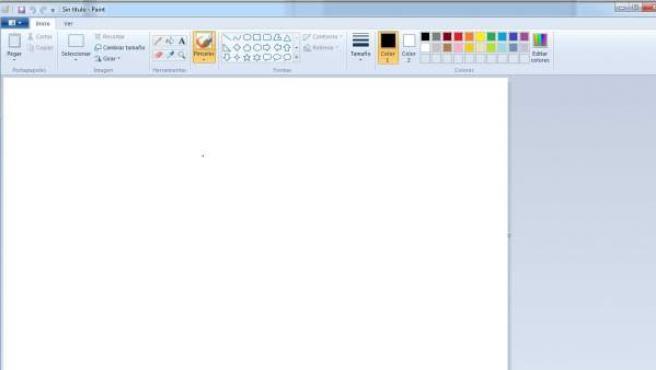 Imagen del programa Paint en Windows.