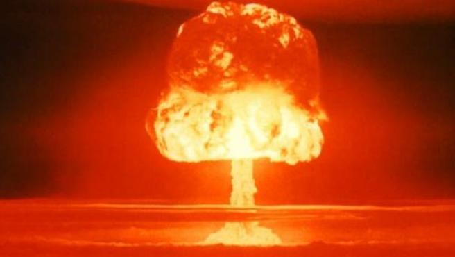 Imagen de la explosión de una bomba de hidrógeno.