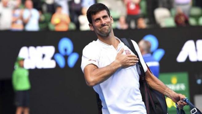 Novak Djokovic, tras ganar un partido a principios de año.