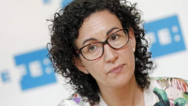 La secretaria general de ERC, Marta Rovira, durante una entrevista con Efe.