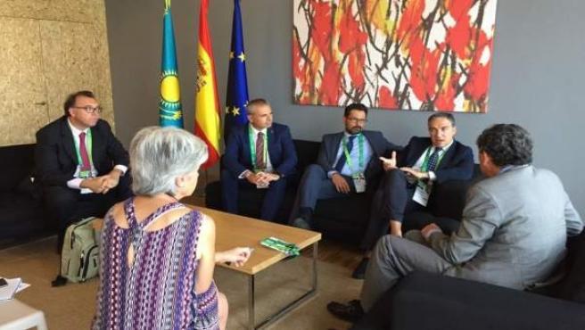 Delegación málaga embajador kazakistan astaná expo universal