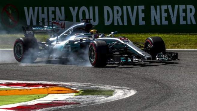 El piloto inglés Lewis Hamilton, en el GP de Italia de Fórmula 1.